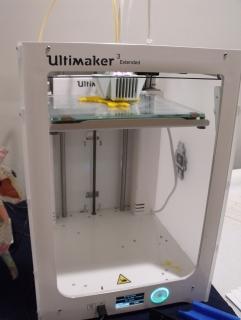 3D printer printing a Trombone Support Bracket